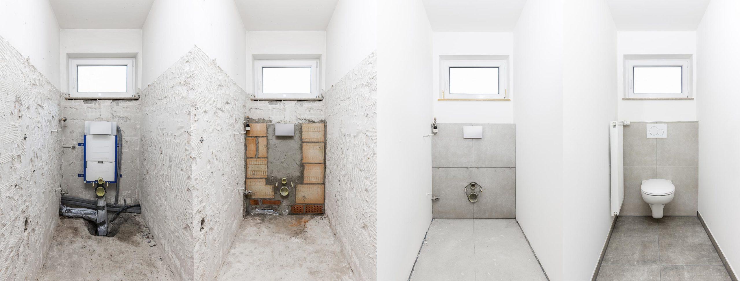 Rénovation sanitaire, salle de bains et WC